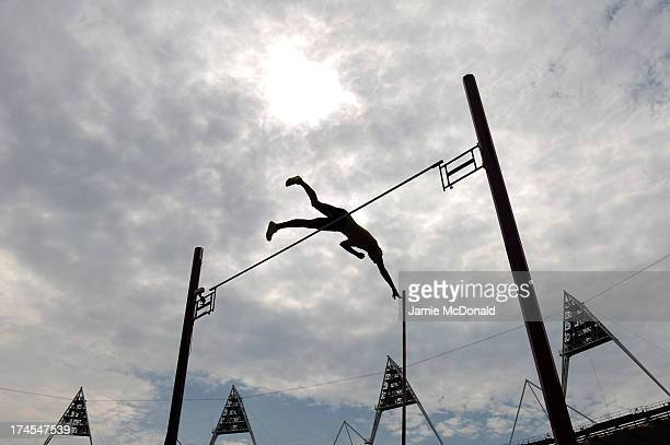 Renaud Lavillenie of France competes in the Men's Pole Vault during day two of the Sainsbury's Anniversary Games IAAF Diamond League 2013 at The...