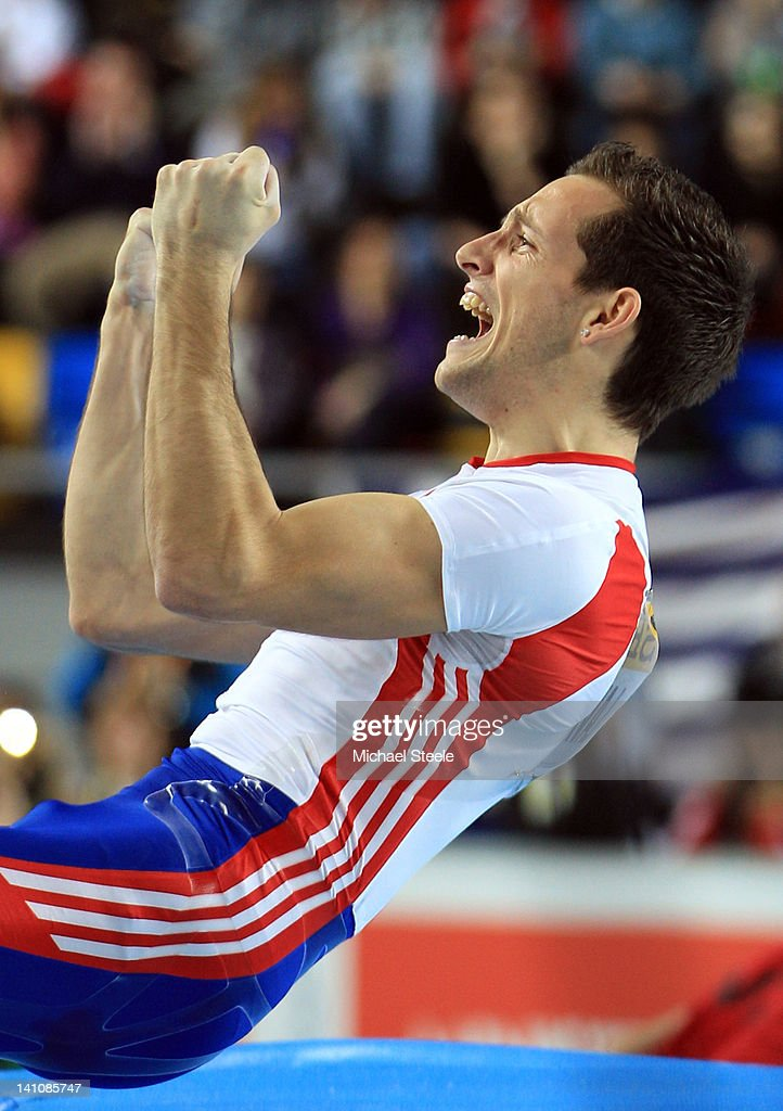 <a gi-track='captionPersonalityLinkClicked' href=/galleries/search?phrase=Renaud+Lavillenie&family=editorial&specificpeople=4955096 ng-click='$event.stopPropagation()'>Renaud Lavillenie</a> of France reacts during the Men's Pole Vault Final during day two of the 14th IAAF World Indoor Championships at the Atakoy Athletics Arena on March 10, 2012 in Istanbul, Turkey.