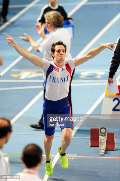 Renaud LAVILLENIE passe 6m03 Saut a la perche Championnats d'Europe en salle BercyParis