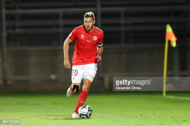 Renaud Ripart of Nimes during the Ligue 2 match between Nimes Olympique and As Nancy Lorraine at Stade des Costieres on August 14 2017 in Nimes