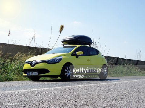 Renault Clio with a cargo box