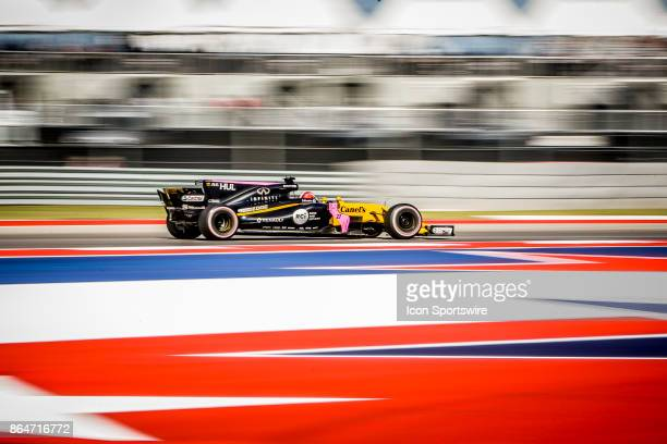 Renault driver Nico Hulkenberg of Germany races through turn 4 during morning practice for the Formula 1 United States Grand Prix on October 21 at...