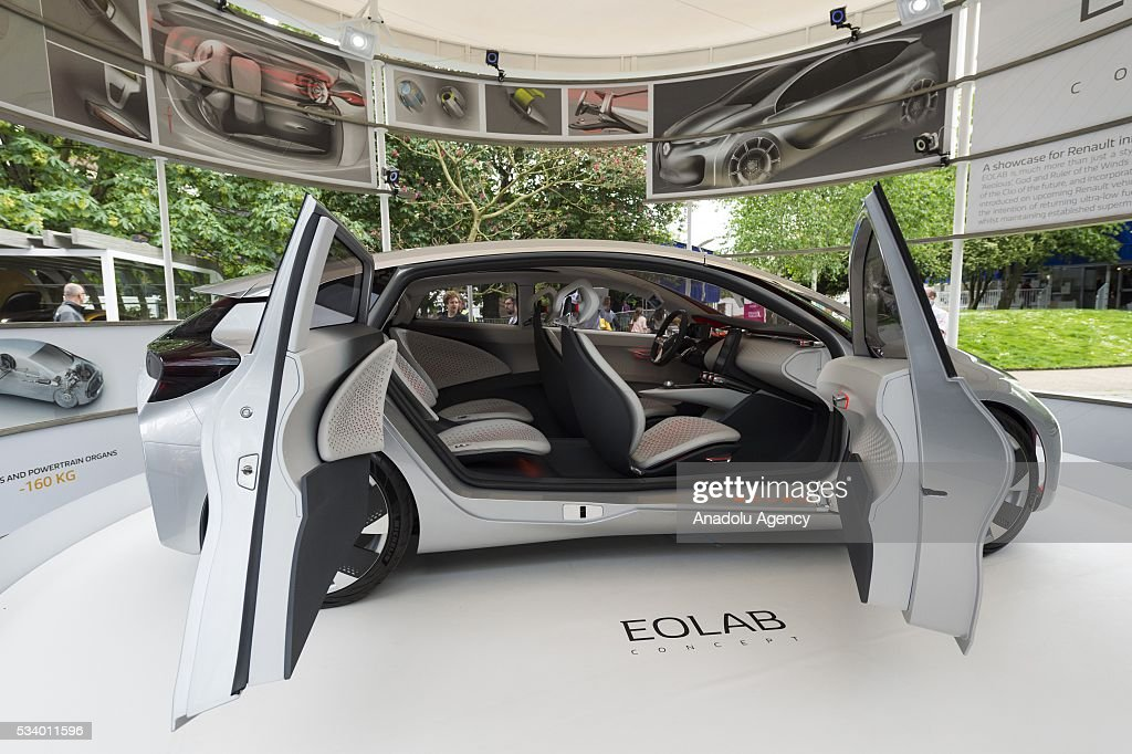 A Renault Ecolab concept car on display at the Clerkenwell Design Week in London, United Kingdom on May 24, 2016