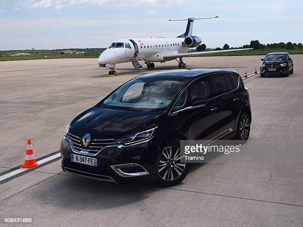 Renault Espace on the airport apron