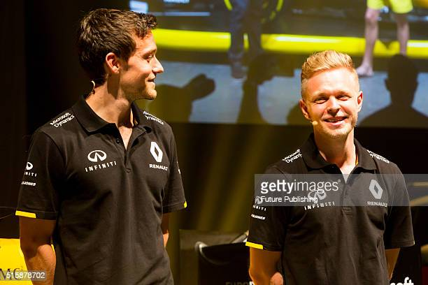 Renault F1 drivers Jolyon Palmer and Kevin Magnussen and team boss Cyril Abiteboul discuss the new 2016 Reanault F1 team livery with David Croft on...
