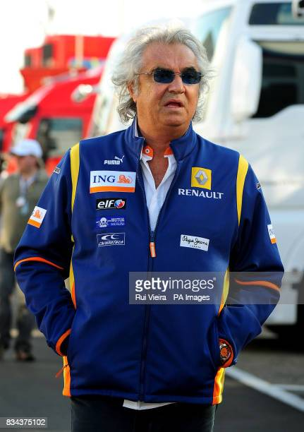 ING Renault F1 Team Managing Director Fabio Briatore at the Circuit Catalunya at the Catalunya Circuit Barcelona