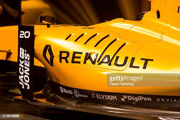 Renault F1 team unveils its new livery for the 2016 season on March 16 2016 in Melbourne Australia UK Office London W wwwbarcroftmediacom USA Office...
