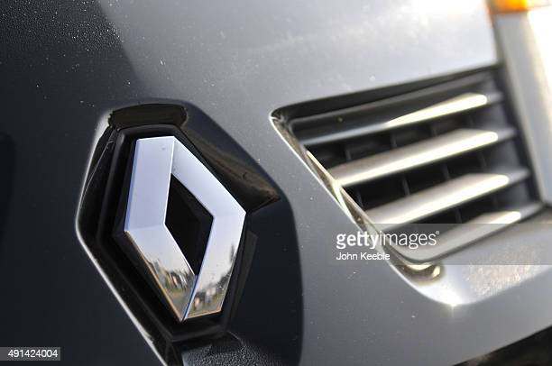 Renault logo radiator badge is pictured on October 4 2015 in Southend on Sea England
