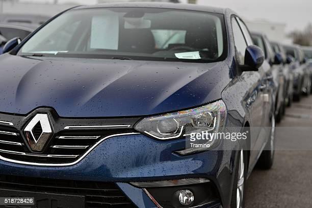 Renault Megane cars on the parking