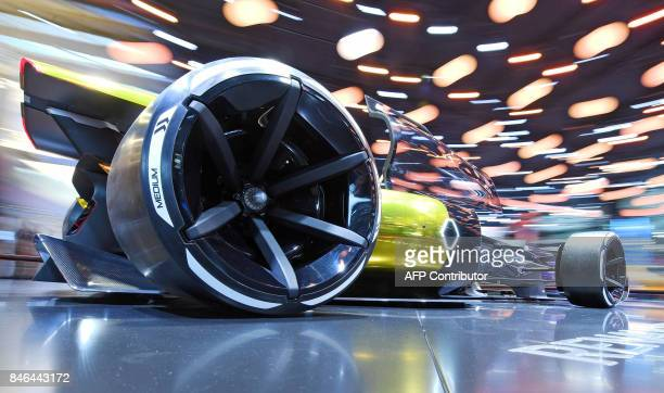 A Renault R S 2027 Vision Formula 1 concept car is presented at the Frankfurt Auto Show IAA in Frankfurt am Main Germany on September 13 2017...
