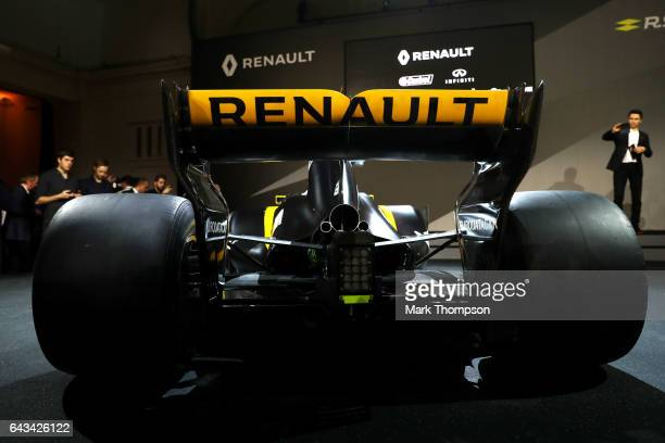 Renault Sport Formula One team's 2017 car the RS17 is unveiled on February 21 2017 in London England
