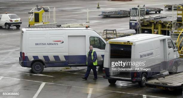 A Renault van with British Airways livery at London's Heathrow Airport as police continued to hunt for robbers who raided a security van similar to...