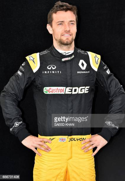 Renault's British driver Jolyon Palmer poses for a photo in Melbourne on March 23 ahead of the Formula One Australian Grand Prix / AFP PHOTO / Saeed...