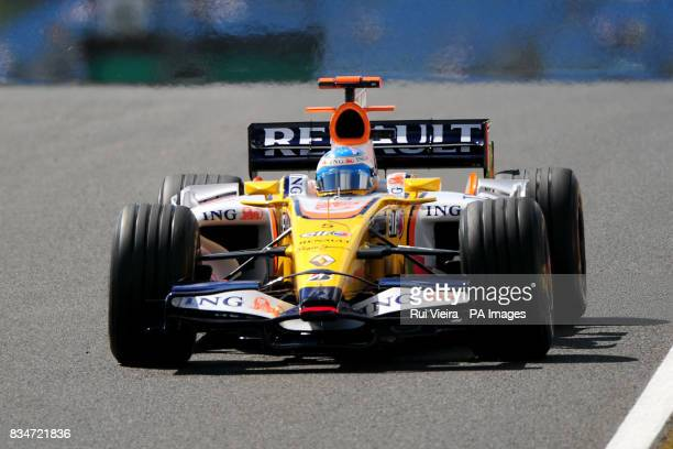 Renault's Fernando Alonso during practice
