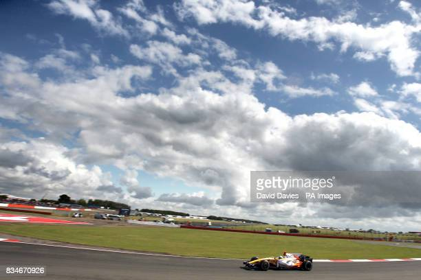 Renault's Fernando Alonso during qualifying for the British Grand Prix at Silverstone Northamptonshire