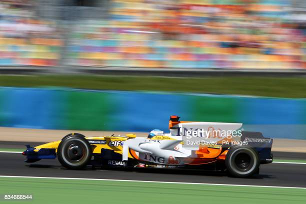 Renault's Fernando Alonso during qualifying for the Grand Prix at MagnyCours Nevers France