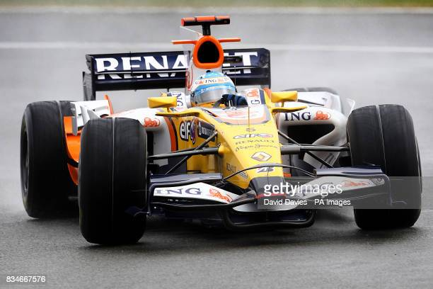 Renault's Fernando Alonso during the British Grand Prix at Silverstone Northamptonshire
