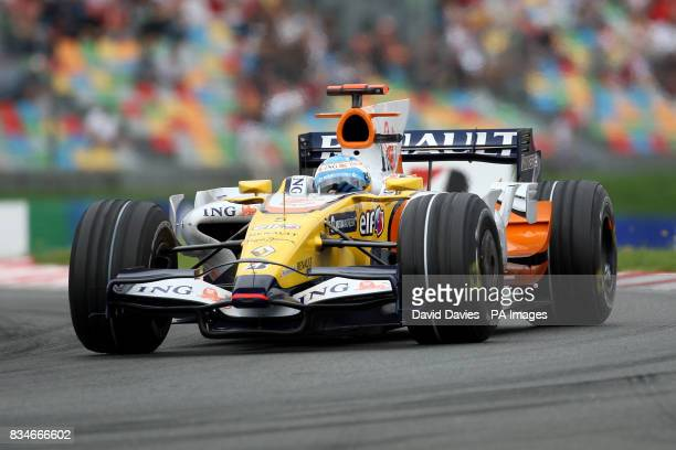 Renault's Fernando Alonso during the French Grand Prix at MagnyCours