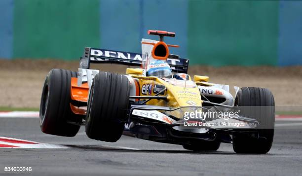Renault's Fernando Alonso during the Grand Prix at MagnyCours Nevers France