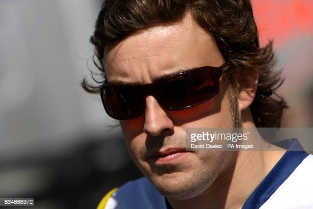 ING Renault's Fernando Alonso during the Grand Prix at MagnyCours Nevers France