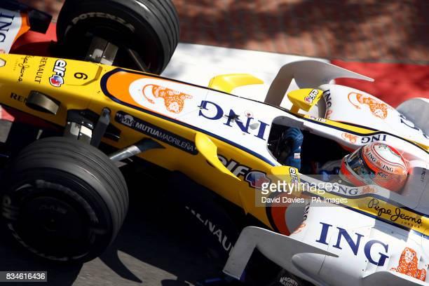Renault's Fernando Alonso during the Thursday practice for the Monaco Grand Prix Monaco