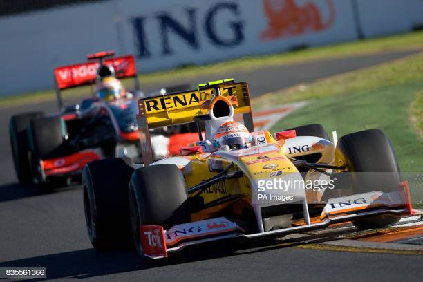 Renault's Nelson Piquet Jr during the Australian Grand Prix at Albert Park Melbourne Australia