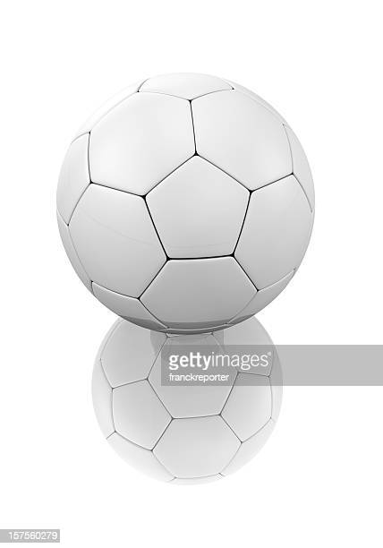 Render 3d of soccer ball on a white background