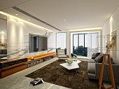 3D render of Living Room