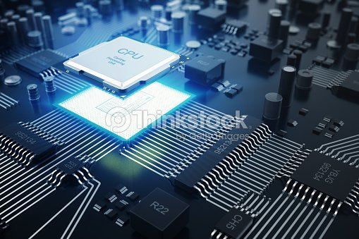 3D rendering Central Computer Processors CPU concept. Electronic engineer of computer technology. Computer board chip circuit cpu core. Hardware concept electronic device motherboard semiconductor : Stock Photo