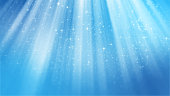 3D rendering of abstract shiny blue background. Elegant background based on particles. Suitable background for fine and refined presentations
