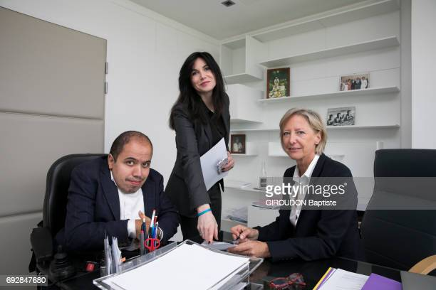 Rendez vous with Secretary of state in charge of people with disabilities Sophie Cluzel in the Health Ministry's offices with Karen Martinon in...