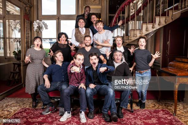 rendez vous with the Theater Director Alexis Michalik and the actors Pierre Benezit Nicolas Lumbreras Guillaume Sentou Christian Mulot Anna Mihalcea...