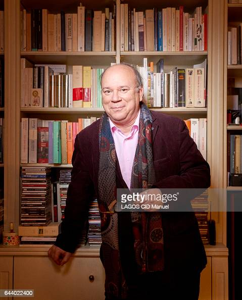 rendez vous with the writer Marc Lambron at home on january 31 2017 in Paris France