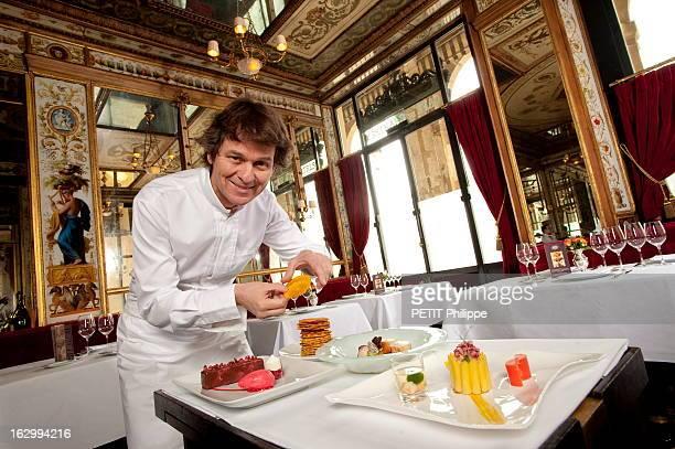 Rendezvous With Chef Guy Martin Guy MARTIN chef du Grand Véfour présente les plats qu'il servira au président Nicolas Sarkozy et à ses invités au...