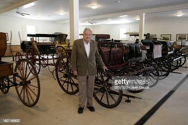 Rendezvous With David Rockefeller David ROCKEFELLER dans sa maison de Hudson Pines située sur le domaine familial dans la mythique propriété de...