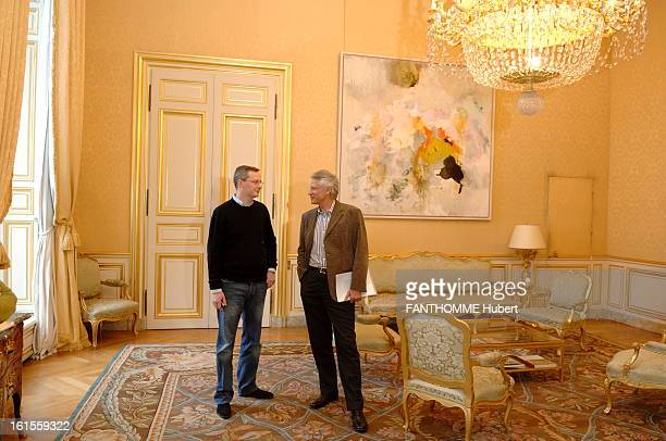 Rendezvous With Dominique De Villepin Attitude Dominique de Villepin smiling standing in the living room between the offices has Matignon with his...