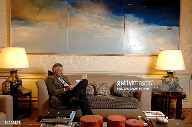 Rendezvous With Dominique De Villepin Dominique de Villepin attitude of reading notes sitting in a sofa moved to the 'smokehouse' near his office...
