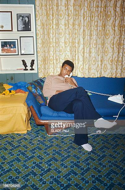 Rendezvous With Former Heavyweight World Champion Cassius Clay Prior To His Fight With Jerry Quarry L'ancien champion du monde des poids lourds...
