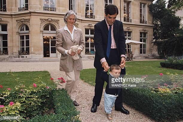 Rendezvous With Francois Fillon François FILLON dans le jardin du ministère des Affaires sociales du Travail et de la Solidarité rue de Grenelle...