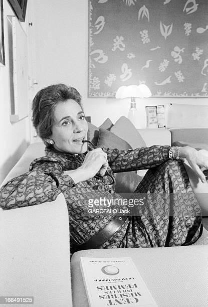 Rendezvous With Francoise Giroud Paris 16 décembre 1977 l'écrivaine et femme politique Françoise GIROUD ancienne Secrétaire d'Etat à la Culture dans...