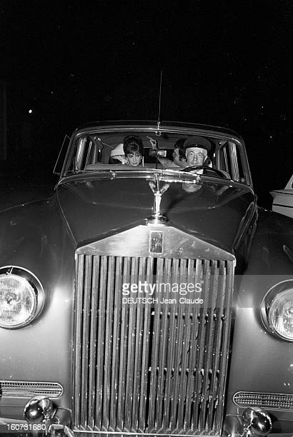 Rendezvous With Gina Lollobrigida At A Party 23 septembre 1965 Portrait de Gina LOLLOBRIGIDA se rendant à une soirée dans sa RollsRoyce