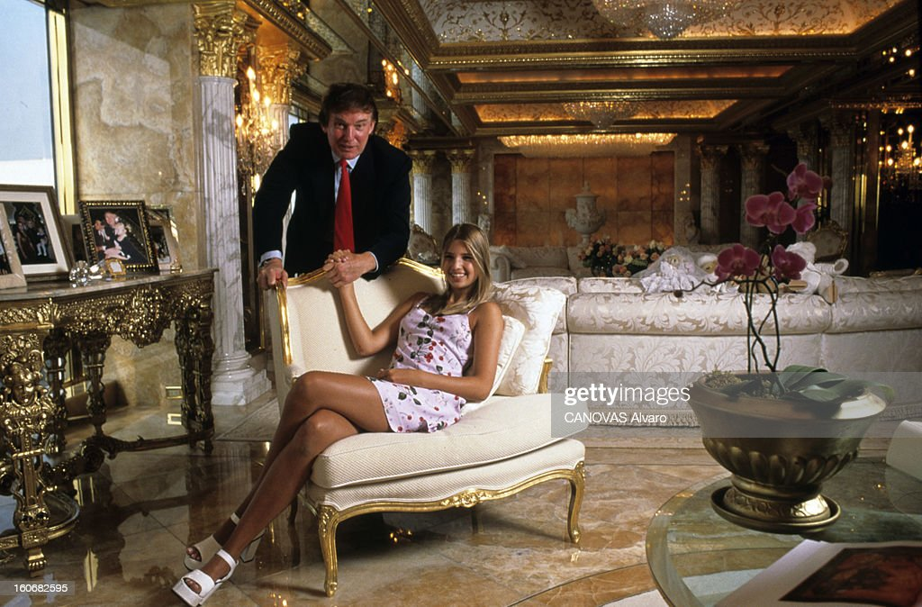 ... trump and her with family new york aout 1996 portrait d ivanka trump