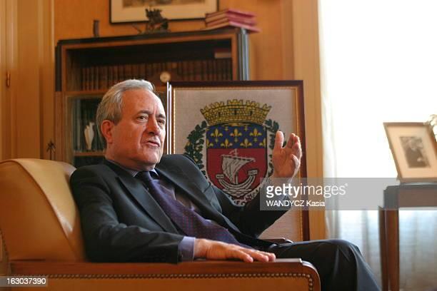Rendezvous With Jean Tiberi Mayor Of The 5Th District Of Paris Attitude de Jean TIBERI assis dans un fauteuil dans son bureau de la mairie du Vème...
