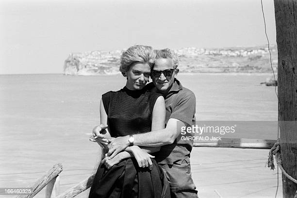 Rendezvous With Jules Dassin And Melina Mercouri On The Shooting Of 'Laloi' In 1956 En juin 1956 pendant le tournage du film 'la loi' de Jules Dassin...