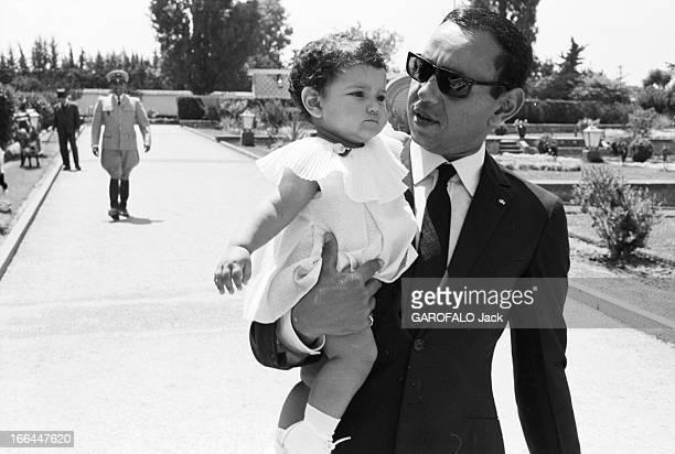 Rendezvous With King Hassan Ii Morocco And Daughter Princess Lalla Meryem Au début des années 60 dans un jardin le roi HASSAN II du Maroc portant des...