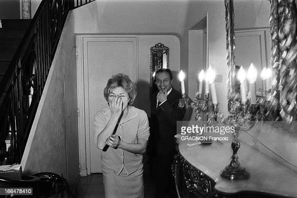 Rendezvous With Line Renaud Line RENAUD dans sa maison de 'la Jonchère' à 15 kms de Paris au coeur des bois de SaintCucufa attitude riante de Line...