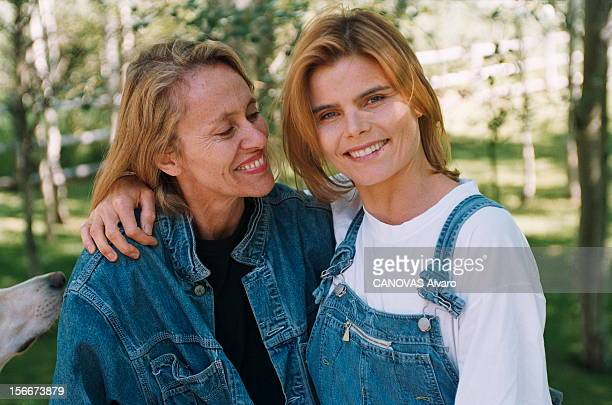 Rendezvous With Mariel Hemingway At Home In Idaho Août 1996 Mariel HEMINGWAY et Dany JUCAUD