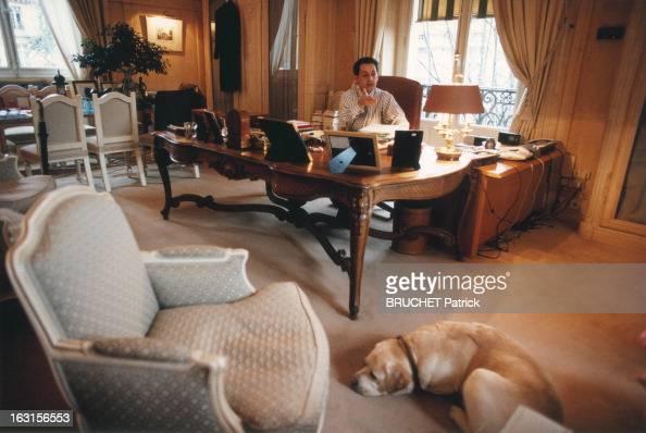 Rendezvous With Nicolas Sarkozy Deputy Mayor Of Neuilly Nicolas SARKOZY dans son bureau de la mairie de Neuilly avec son labrador Indy qui ne le...