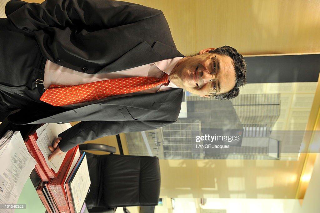 Rendezvous With <a gi-track='captionPersonalityLinkClicked' href=/galleries/search?phrase=Patrick+Devedjian&family=editorial&specificpeople=779301 ng-click='$event.stopPropagation()'>Patrick Devedjian</a>. 20 janvier 2011 --- Patrick DEVEDJIAN, député et président du conseil général des Hauts-de-Seine, dans son bureau.