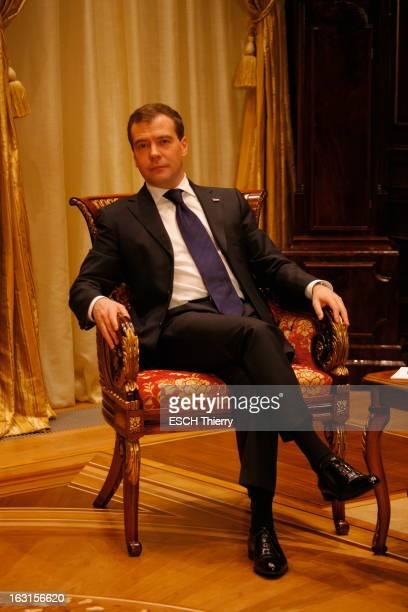 Rendezvous With Russia President Dmitry Medvedev A la veille de son voyage à Paris Dmitri MEDVEDEV reçoit Paris Match dans la résidence...